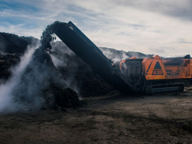 Green Waste Shredding by Growing Beds Recycling Services
