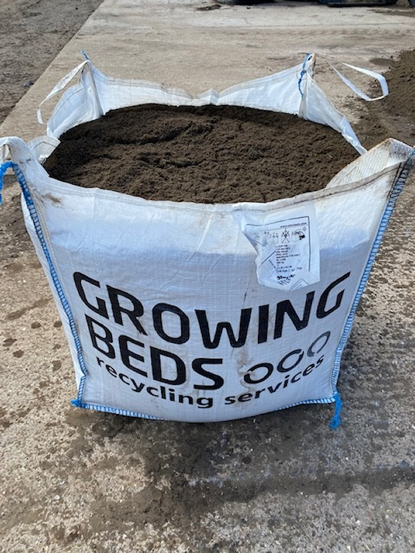 Bagged topsoil by Growing Beds Recycling Services Ltd